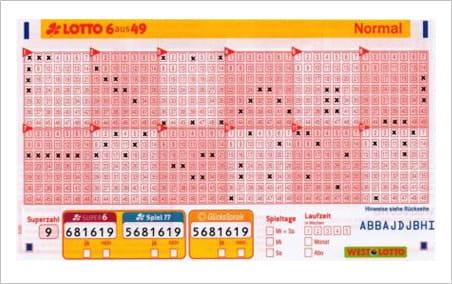 Lottoschein Auswerten